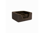 Snoozer SN-21170 Luxury Square Pet Bed - Small-Navy-Camel