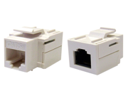 Offex Wholesale Cat 5e Keystone Inline Coupler, White, RJ45 Female