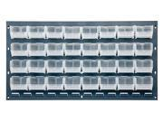 """Quantum Clear View Louvered Panel With 32  Stack Storage Bins 5 3/8""""L x 4 1/8""""W x 3""""H"""