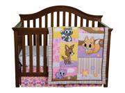 Trend Lab Lola Fox And Friends 3 Piece Home Kids Baby Pretty Crib Bedding Set