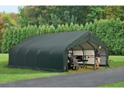 Shelterlogic Outdoor Garage Automotive Boat Car Vehicle Storage Shed 18x28x12 Peak Style Shelter Green Cover