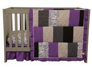 Grape Expectations - 3 Piece Crib Bedding Set