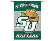 """BSI Indoor Outdoor Sports Banner Stetson 2-Sided 28"""" X 40"""" Banner With Pole Sleeve"""