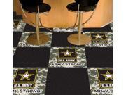 """Fanmats Sports Team Logo Army Carpet Tiles 18""""x18"""""""