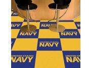 "Fanmats Sports Team Logo Navy Carpet Tiles 18""x18"""