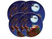 "Range Kleen Kitchen Electric Stove Cooktop Round Burner Kovers ""Santa's Flight"" Hallmark"