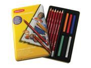 Derwent Kids School Arts Pastel Pencil 12-Color Collection Tin Set