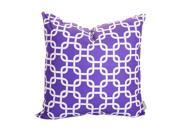 Majestic Home Goods Decorative Purple Links Pillow Large