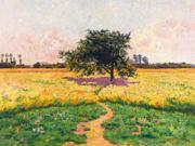"""FOV Editions Giclee Rural French Scene By Edwin Evans - 18"""" X 24"""" Painting on Canvas Print - Unframed Modern Art Poster"""