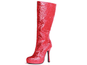 Red Glitter Adult Boots