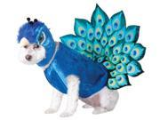Peacock Pet Costume - Medium