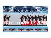 Zombie Warning Tape - Halloween Décor