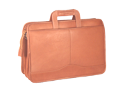 David King Triple Gusset Drop Handle Briefcase