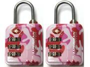 American Tourister 3 Dial Combo TSA Lock - set of 2