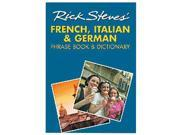 Rick Steves 3-in-1 French-Italian-German Phrase Book