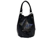 Parinda Adria Croco Embossed Faux Leather Large Handbag