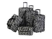 American Flyer Animal Print 5 Piece Luggage Set