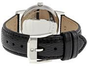 Movado Museum Black Dial Black Leather Strap Ladies Watch 2100004