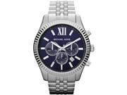 Michael Kors Lexington Chronograph Navy Dial Mens Watch MK8280