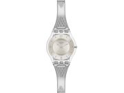 Swatch Skin Classic Third Date Silver Dial Stainless Steel Ladies Watch SFK370G