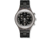 Swatch Irony Diaphane Full Blooded Stoneheart Silver Black Dial Chrono Watch