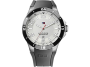 Tommy Hilfiger Blake White Dial Gray Rubber Mens Watch 1790863