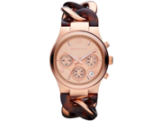 Michael Kors Runway Rose Gold-tone Tortoise Twist Chain Link Ladies Watch MK4269