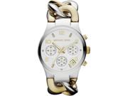 Michael Kors Twist Chain  Chronograph White Dial Ladies Watch MK3199