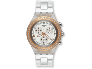 Swatch Irony Diaphane Marvelous Pink White Dial Aluminum Chrono Watch SVCK4067AG