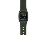Swatch Touch Olive Black Dial Green Silicone Mens Watch SURG101