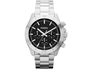 Fossil Retro Traveler Black DiaL Stainless Steel Mens Watch CH2848