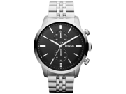 Fossil Townsman Chronograph Black Dial Stainless Steel Mens Watch FS4784f