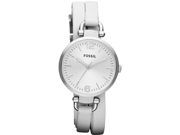 Fossil Georgia Stainless Steel White Leather Ladies Watch ES3246