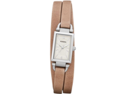 Fossil Women's Delaney Sand Leather Strap Three Hand Watch