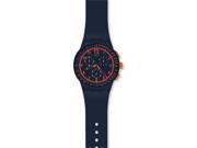 Swatch Originals Blue Rebirth Blue and Orange Chronograph Mens Watch SUSN401