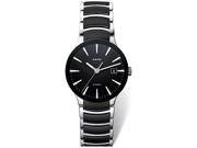 Rado Centrix Black Dial Stainless Steel and Ceramic Mens Watch R30941152