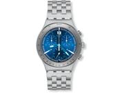 Swatch Irony Rhythmic Blue Chronograph Stainless Steel Mens Watch YCS575G
