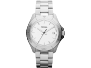Fossil Retro Traveler Silver Dial Stainless Steel Ladies Watch AM4440