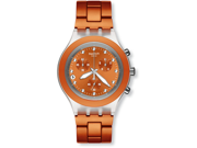 Swatch Full Blooded Naranja Orange Chrono Dial Aluminum Mens Watch SVCK4051AG