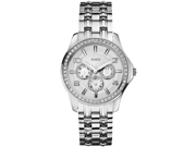 GUESS Silver-Tone Polished Glamour Ladies Watch U0147L1
