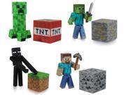 "Minecraft 3"" Series 1 Figure Set Of 4 with Steve Enderman Creeper Zombie"