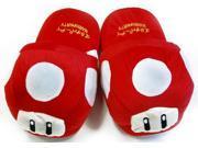 Super Mario Brothers Red Mushroom Plush Slippers