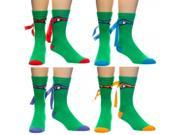 Teenage Mutant Ninja Turtles Mask Crew Socks Pack Of 4
