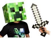 "Minecraft 12"" Creeper Head & Sword Costume Kit"