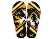 Missouri Tigers Unisex Big Logo Flip Flops X-Small (W 5-6)