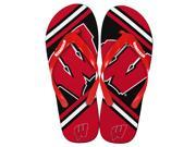 Wisconsin Badgers Unisex Big Logo Flip Flops Medium (W 9-10/M 7-8)