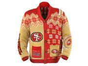San Francisco 49Ers NFL Adult Ugly Cardigan Sweater Large