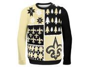 New Orleans Saints Busy Block NFL Ugly Sweater XX-Large