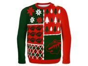 Minnesota Wild NHL Busy Block Ugly Sweater X-Large