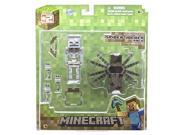 Minecraft Overworld Spider Jockey Action Figure Pack
